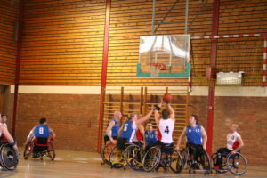Wheelchair basketball game